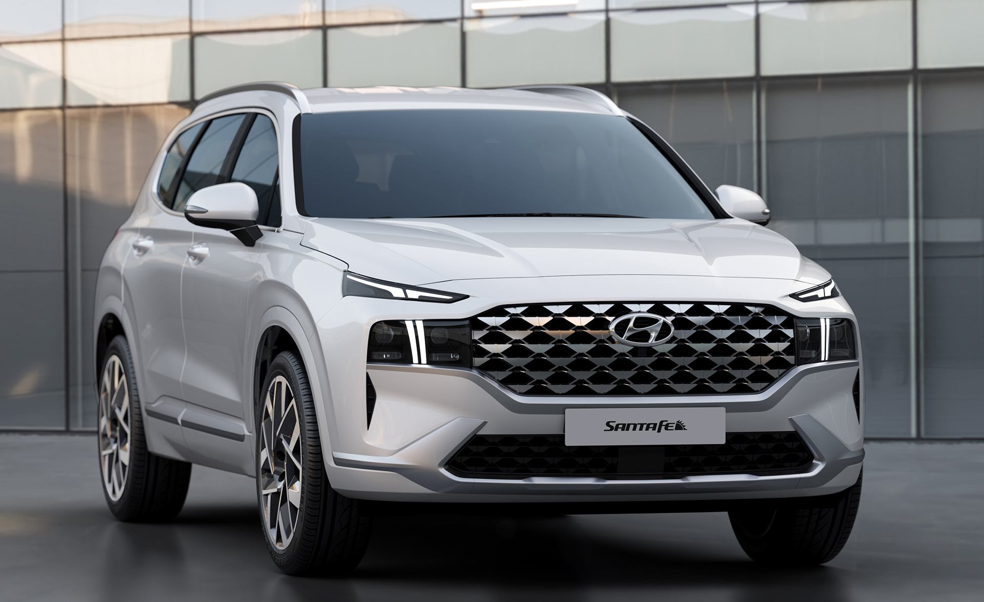 2021 Hyundai Santa Fe Gets Smiley New Face, Improved ...