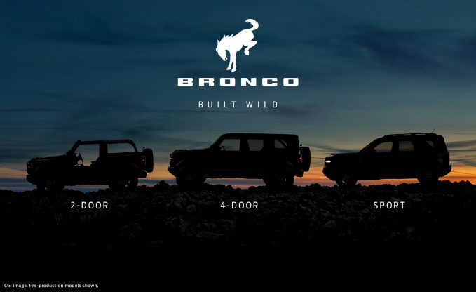 Latest 2021 Ford Bronco Teaser Shows Off the Whole Family