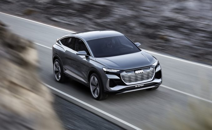 Audi Q4 Sportback e-tron Concept Has a Sexy Back and a 300 Mile Range