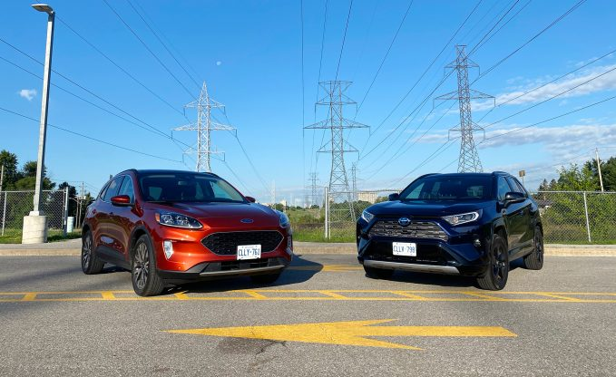 2020 Ford Escape Hybrid vs 2020 Toyota RAV4 Hybrid