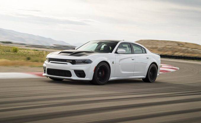 2021 Dodge Charger SRT Hellcat Redeye action front three-quarter
