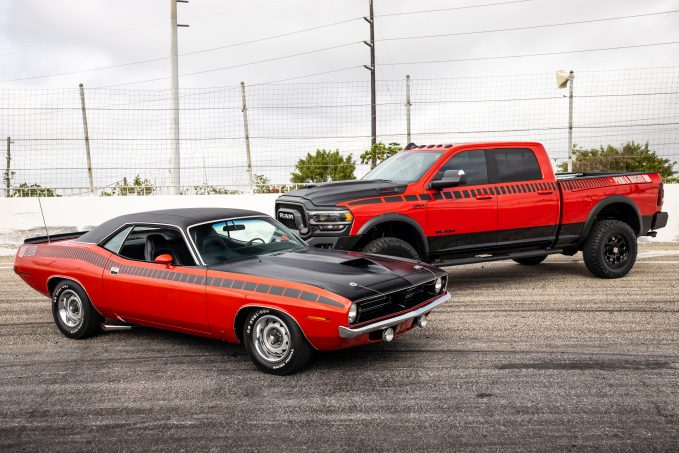 Win this 1970 Plymouth AAR 'Cuda and 2019 Ram Power Wagon as part of the Dream Giveaway Show & Tow package.