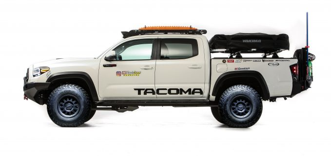 Using a Tacoma TRD Pro as their base, the build team enlisted the help of Ryan O'Connell and ShmellFab to construct this go-anywhere overlander.