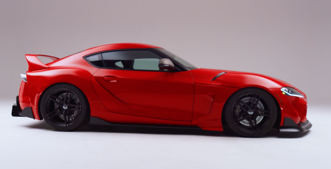 Called the GR Supra Sport Top, this Toyota Supra Targa SEMA360 build beautifully incorporates a removable panel into the car's roof, preserving several bodylines.