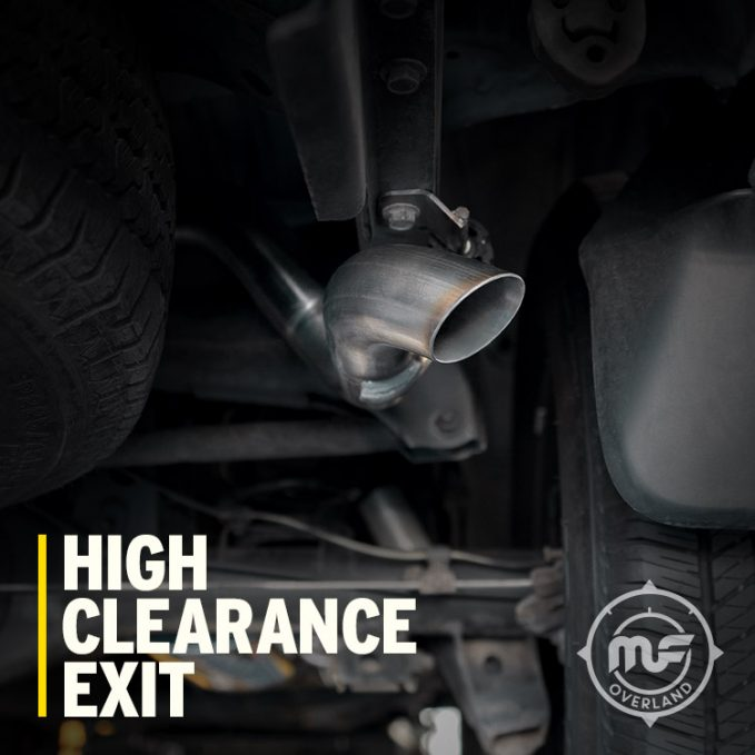 A look at the high clearance on the MagnaFlow Overland Series
