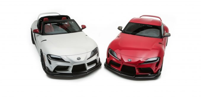 The Toyota GR Supra Sport Top (left) and 2020 Toyota GR Supra Heritage Edition (right)