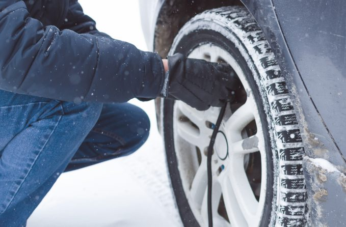 Overinflate your tires before storing your car for the winter