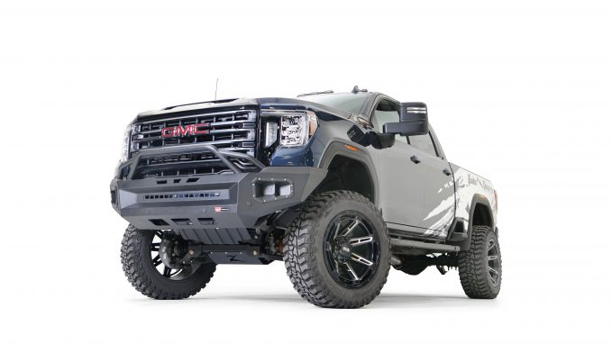 WARN Ascent XP Front Bumper for 2020 GMC HD with Baja Bar