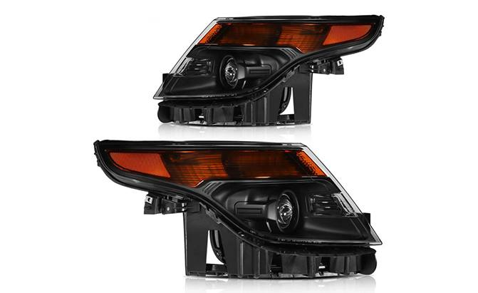 ECCPP Headlight Assembly Direct Replacement For Ford Explorer 2011-2015