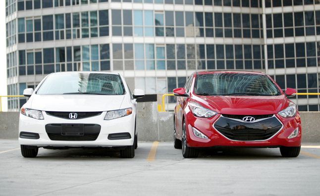 2013 Hyundai Elantra Coupe vs 2012 Honda Civic Coupe  Car Reviews