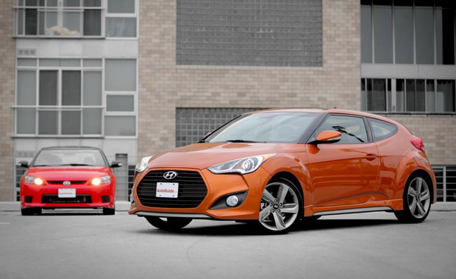 hyundai veloster turbo vs scion tc rs 8 0 video car. Black Bedroom Furniture Sets. Home Design Ideas
