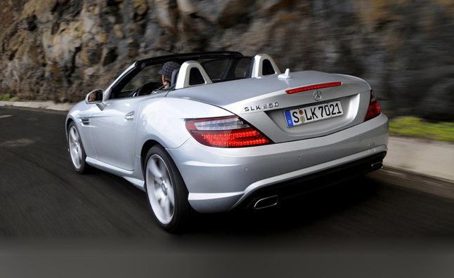 convertible of benz amg driving sports the thing s little breathing package has good optional a in small its courtesy cousin slk fire mercedes vka look