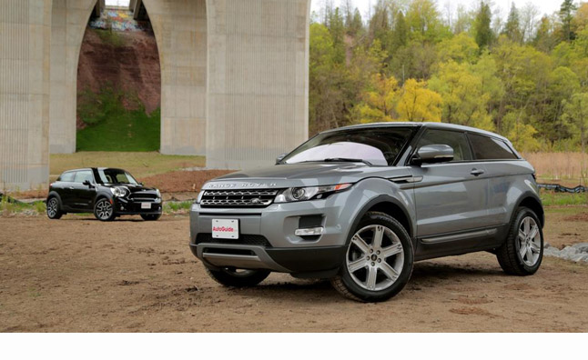 2013 Range Rover Evoque Coupe Vs 2013 Mini Paceman Cooper S Car
