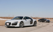 2014 Porsche 911 Turbo vs Audi R8 V10 Plus
