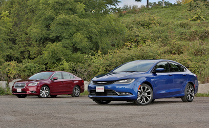 2015 Subaru Legacy 3.6R vs Chrysler 200S