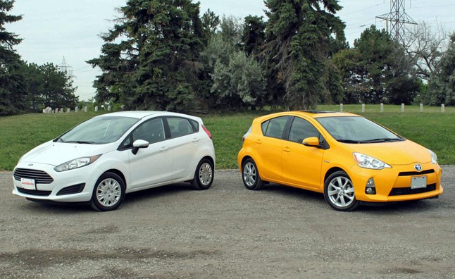 Prius Vs Prius C >> 2015 Ford Fiesta Sfe Vs 2014 Toyota Prius C Car Reviews