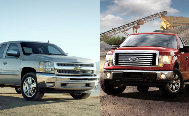 2017 Ford Vs Chevy >> 2012 Ford F-150 vs. 2012 Chevy Silverado 1500 : Car Reviews