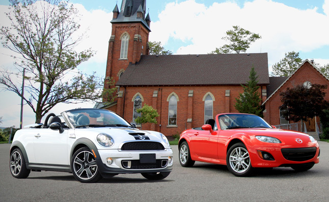 2012 Mazda MX-5 Miata vs 2013 MINI Roadster Cooper S : Car