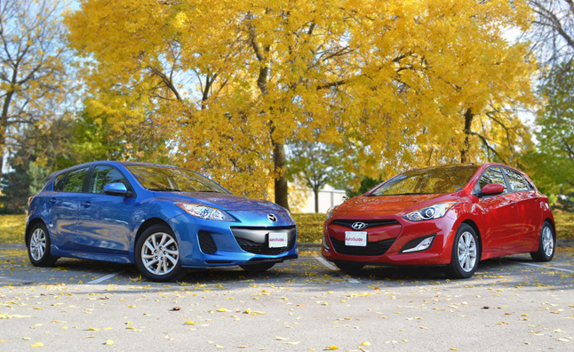 2013 Mazda3 Hatchback Vs 2013 Hyundai Elantra Gt Car Reviews
